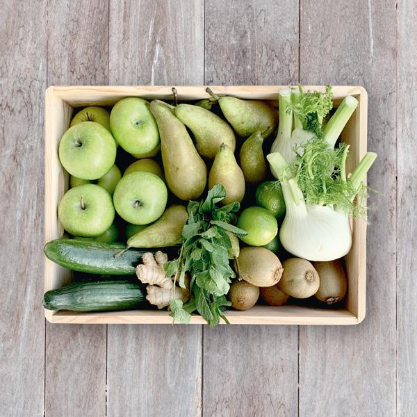 Obsthaus Saft-Kiste Grün
