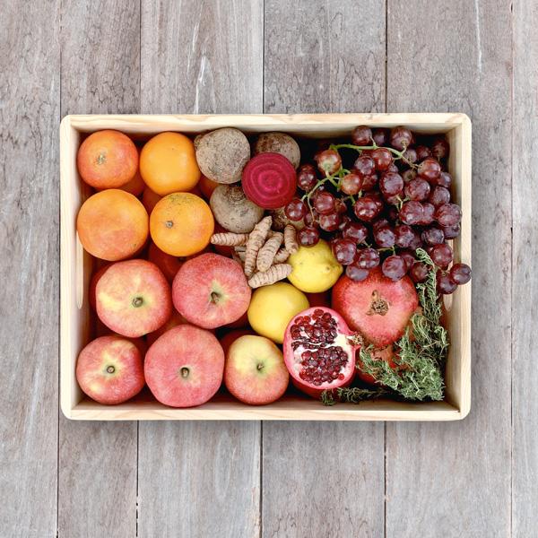 Obsthaus Saft-Kiste Rot